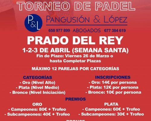 Información Grupos  Torneo de Padel Pangusión & López Abogados Prado del Rey