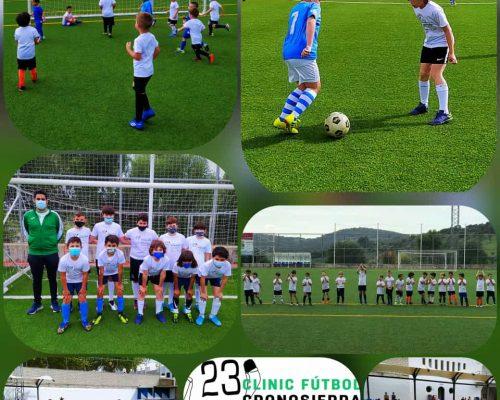 Partido Pitufos y Alevines Clinic Futbol en Prado del Rey